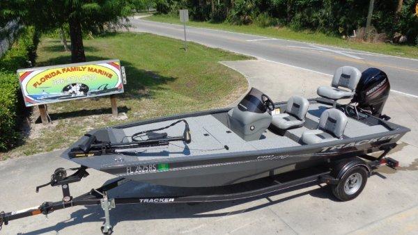 5 HOURS- 2018 BASS TRACKER PRO 170 ALUMINUM FISHING BOAT