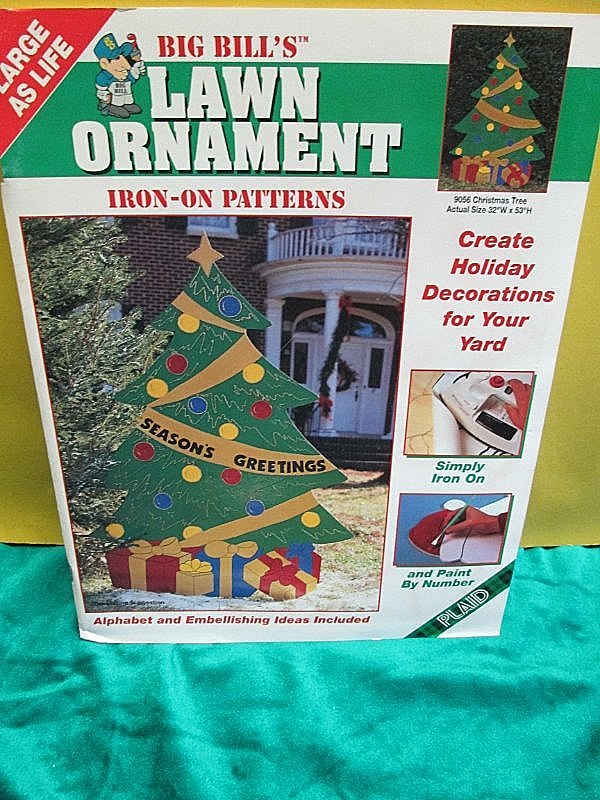 Christmas Tree Bill.Details About Plaid Big Bill S Lawn Ornament Iron On Patterns Christmas Tree