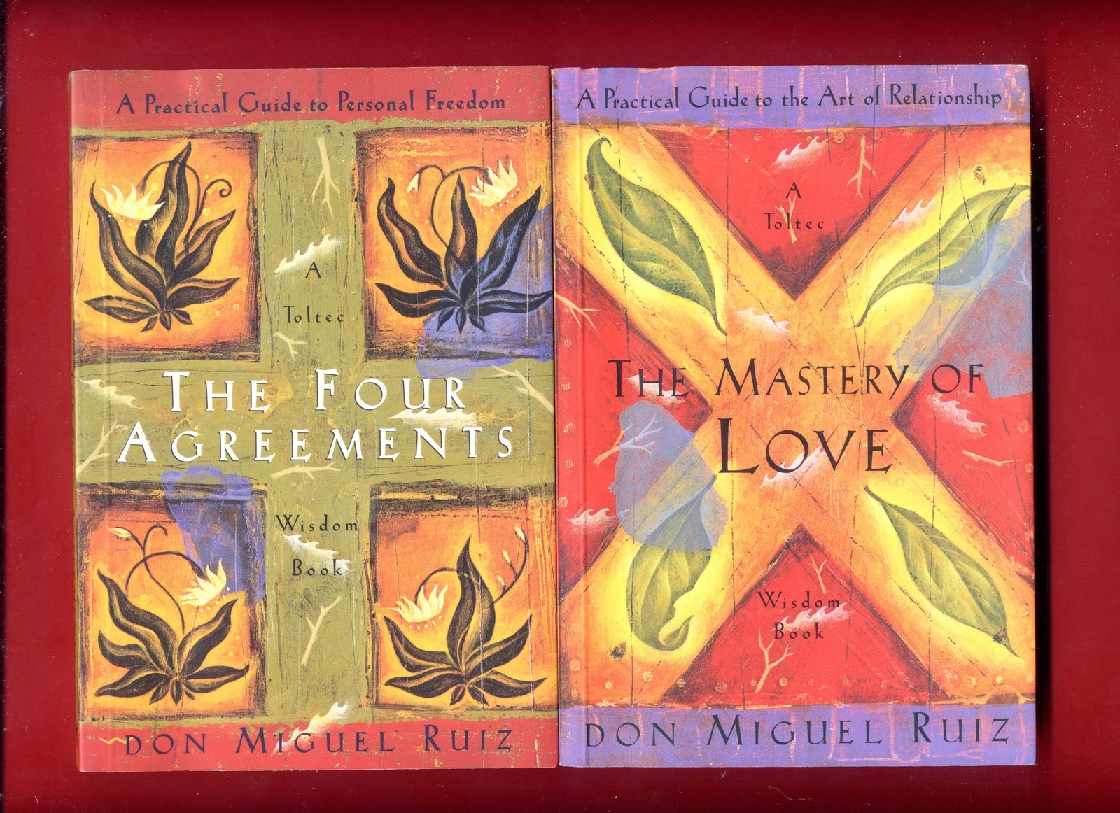 2 Books By Don Miguel Ruiz Four Agreements The Mastery Of Love
