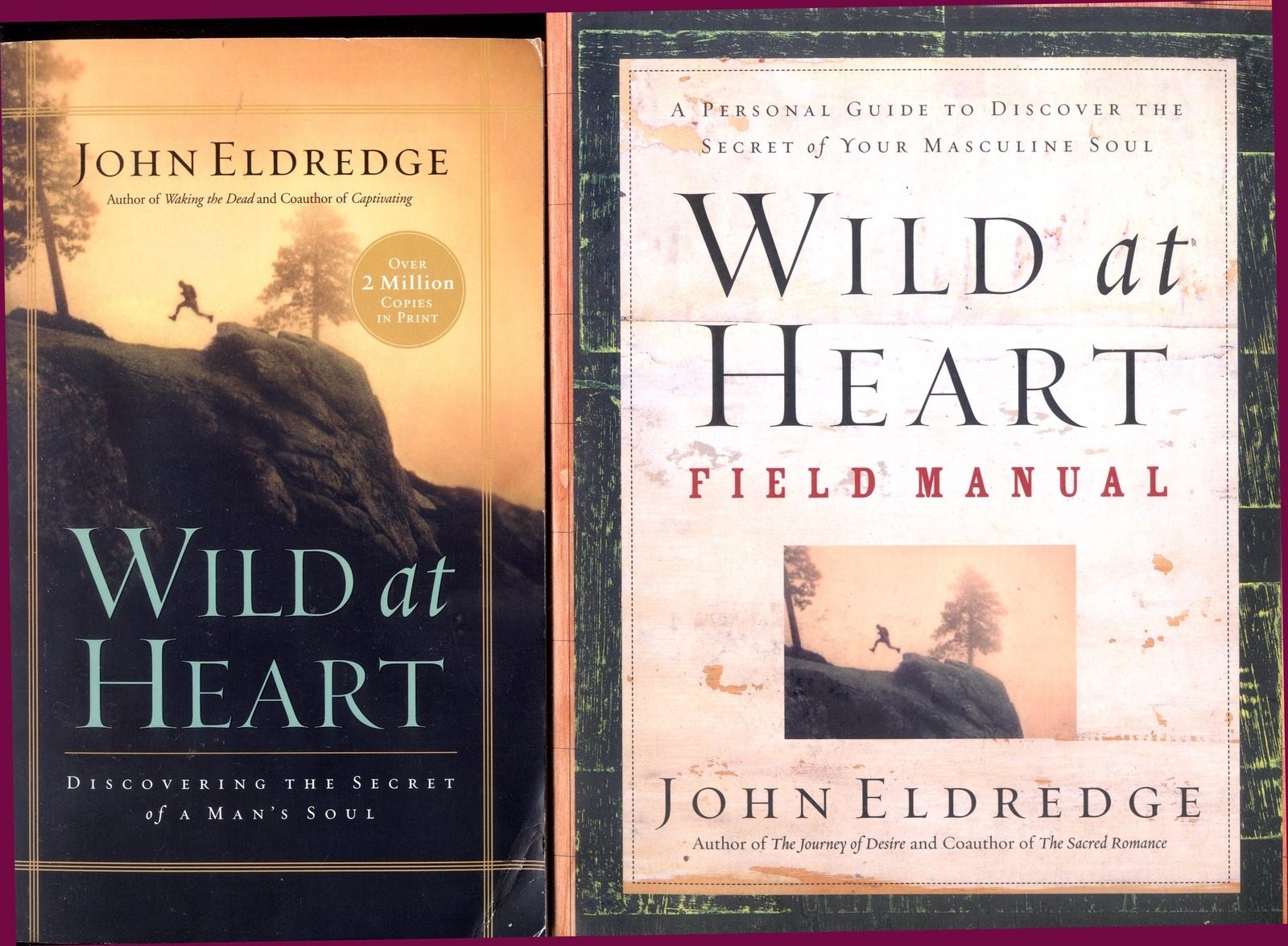 2 books by John Eldredge: Wild at Heart + Wild at Heart Field Manual - Free  Shipping!