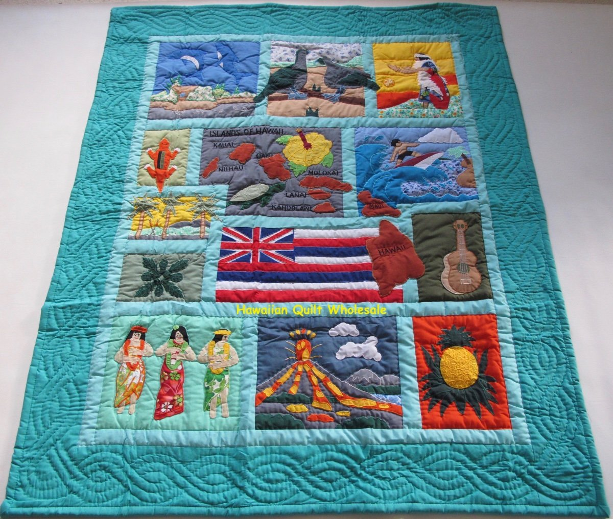 quilt by the carr complete is begin on let carole category handmade celebration hawaiian and bed