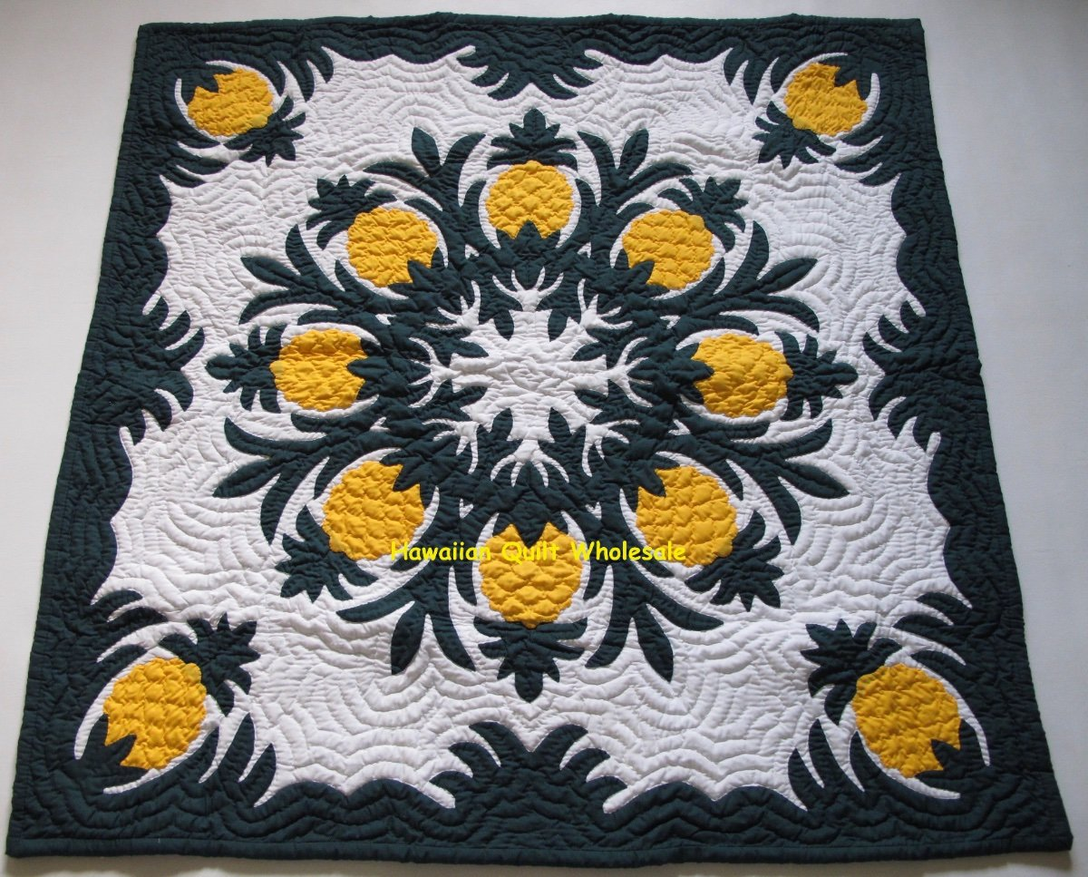 Country Floral hand applique Baby or Wall QUILT TOP