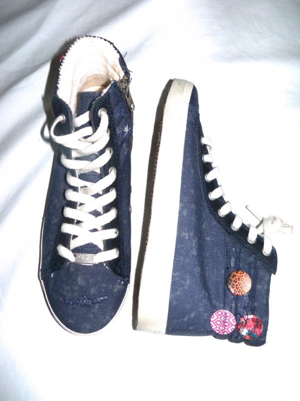 NEW Womens Size 5 Kim & Zori High Top Sneakers Shoes  Hippie Bling  Retail 9