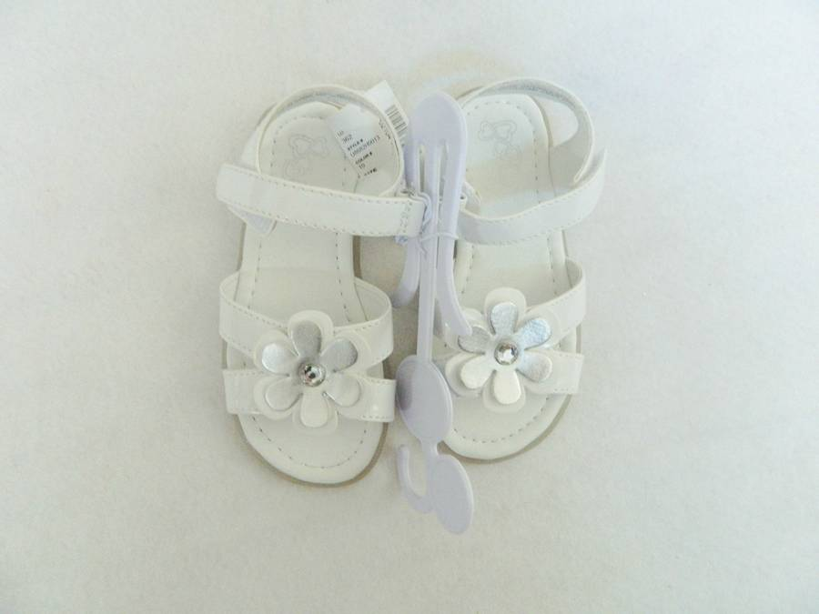 New Toddler Girls Size 9 Childrens Place Sandals Shoes White With
