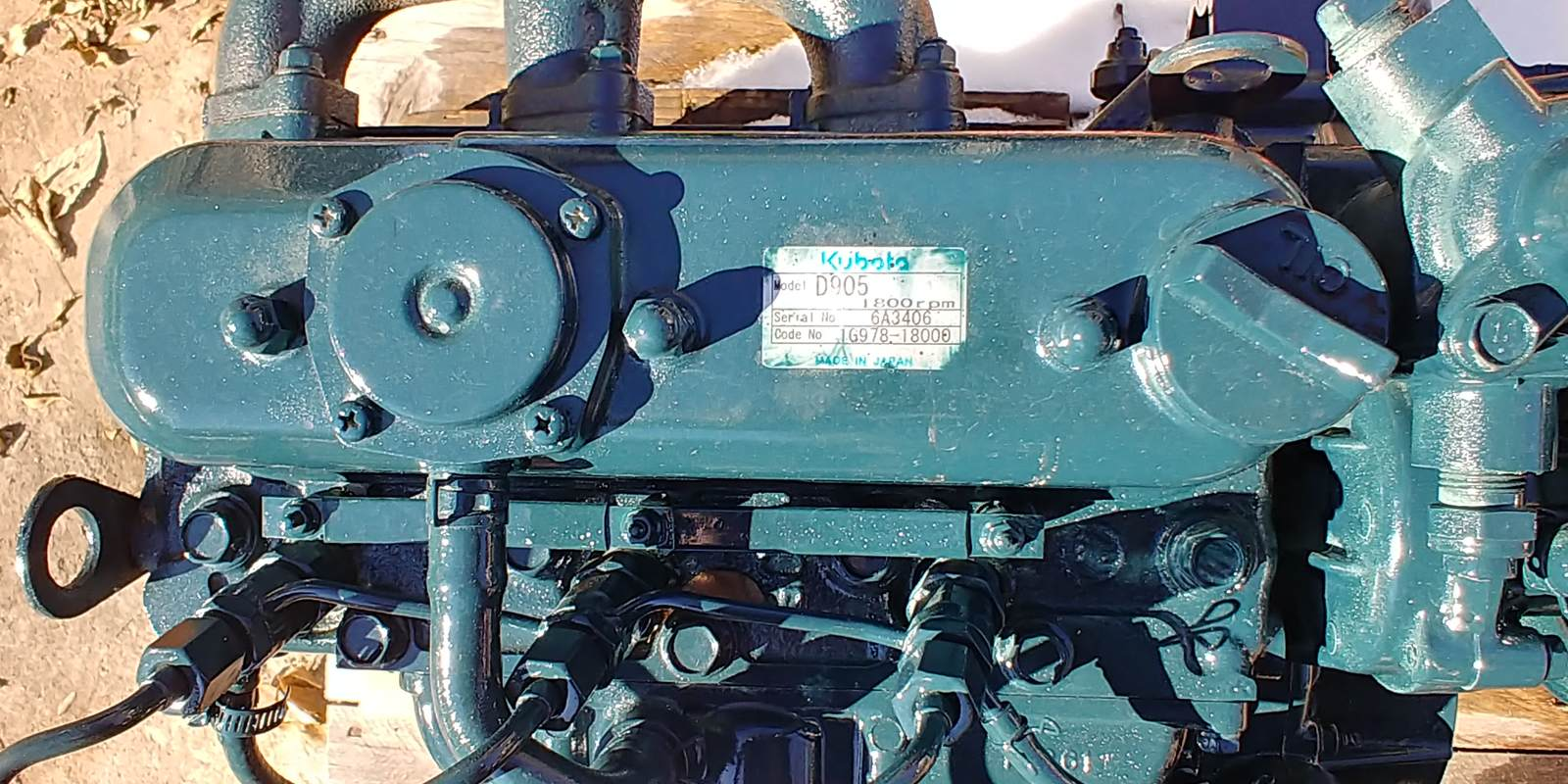 Kubota D905 - Diesel - Complete Engine - Used