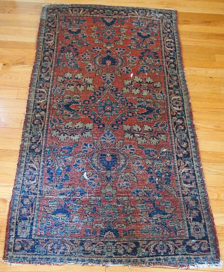 Antique Oriental Rugs Uk: Oriental Persian Sarouk Rug Semi Antique Wool Natural Dye