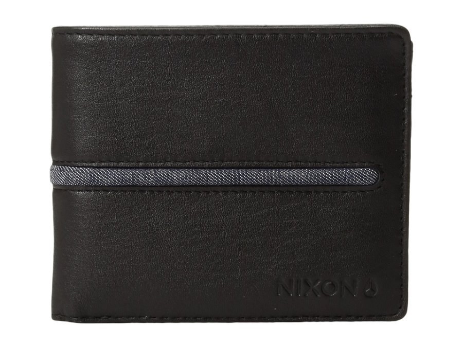 NWT MENS NIXON COASTAL ARC BLACK LEATHER BIFOLD COIN WALLET NEW 1518f8e3fa3