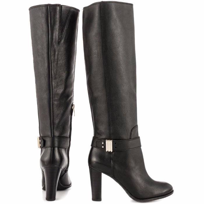 7c8ca03f783 Details about Enzo Angiolini Sumilo Tall Boots Black Leather 7.5  249