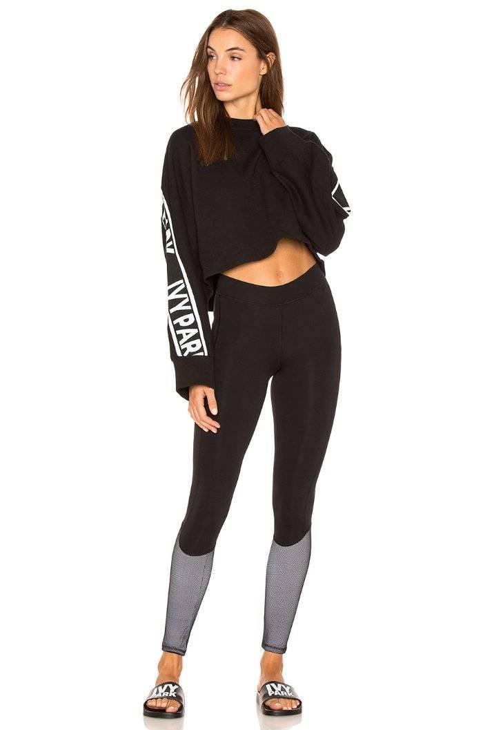 73be379160370 Ivy Park by Beyonce Mesh Overlay Panel Leggings Black Medium (8-10 ...