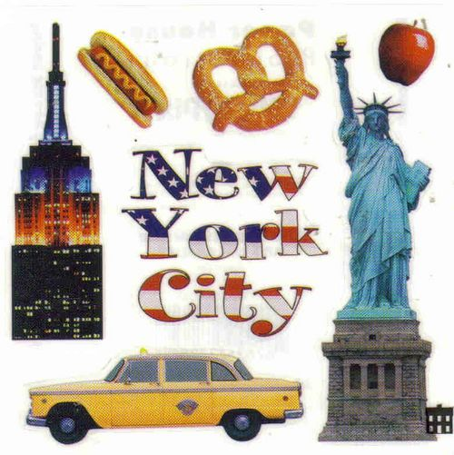 New York Vacation Arts and Crafts Vacation Stickers New York Craft Sticker Set Bundle 6 Pack New York Vacation Stickers New York Scrapbook Album