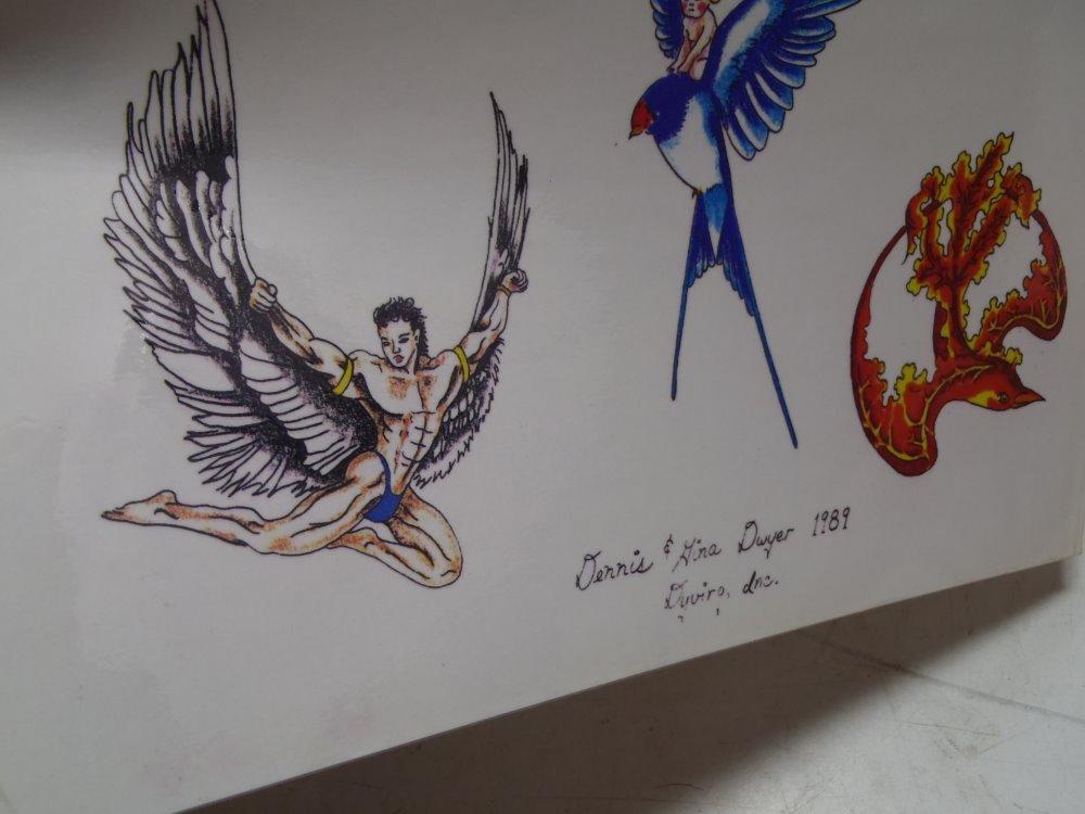 Tattoo Sourcebook Phoenix: Vintage Tattoo Flash Sheet Art By Dennis Gina Dwyer DYVIRG