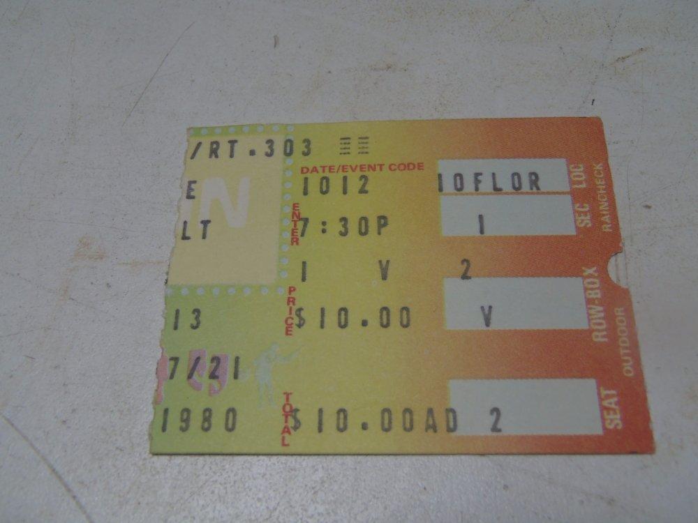 original 1980 black sabbath blue oyster cult ticket stub richfield coliseum ohio ebay. Black Bedroom Furniture Sets. Home Design Ideas
