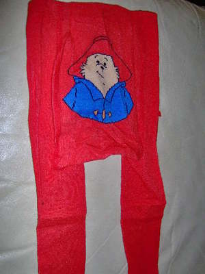 Paddinton Bear Baby Girls Tights Red 9-12 Months