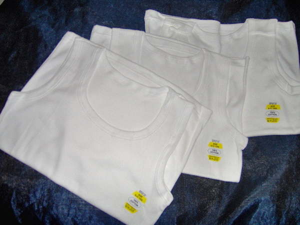 AGE 1-2  3-5  6-8  9-11 11-13 YEARS 3 PACK BOYS WHITE COTTON VESTS