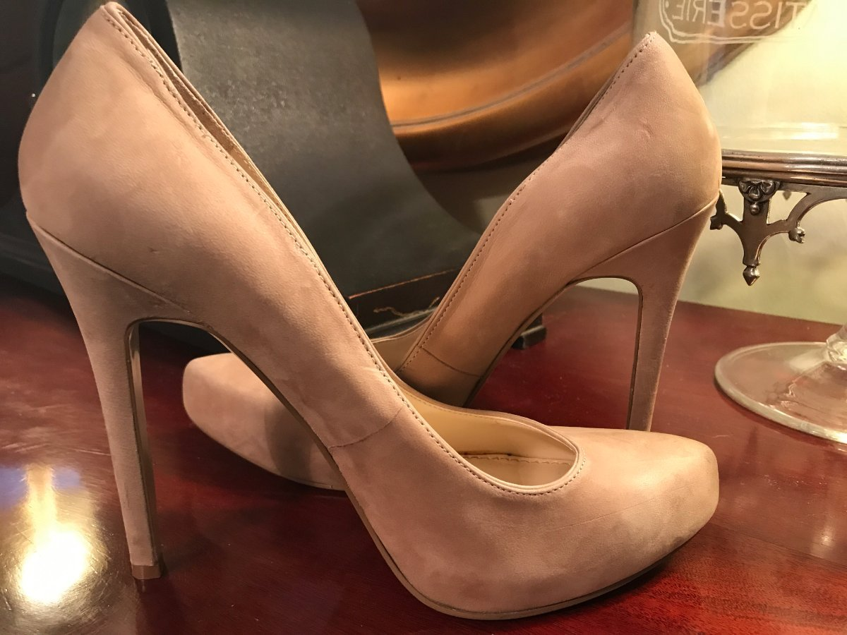 9ffcf6b947 Details about Enzo Angiolini 9.5 M Beige Suede Platform Pumps New Womens  Shoes