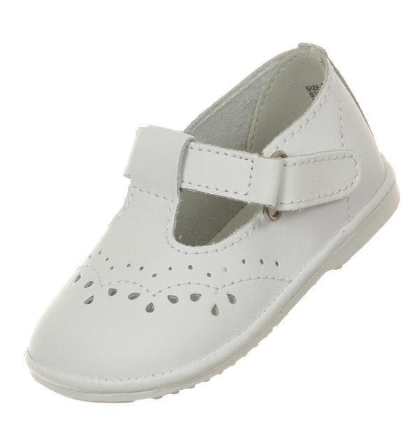 c467e881e76c3 Details about Ivory White Baby Toddler Girls Leather Dress Shoes Strap  Christening Baptism New