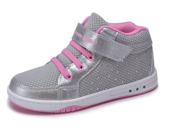 Girls Tennis Shoes High Top Glitter
