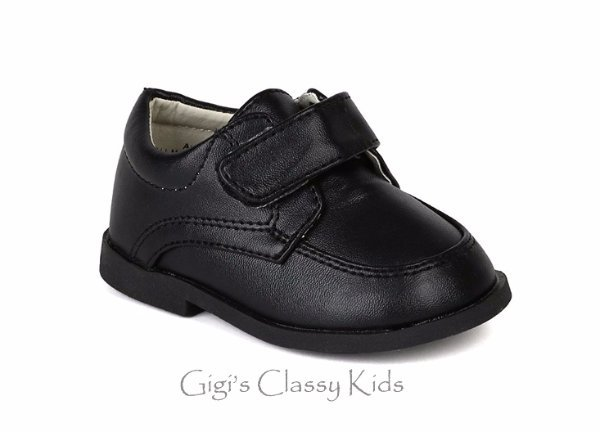 New Baby Toddler Boys White Black Dress Shoes Christening Baptism