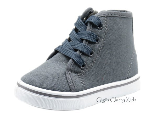 new baby toddler boys tennis shoes canvas high top