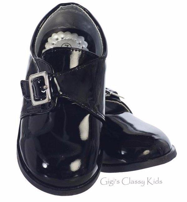 New Baby Toddler Boys Black Shiny Dress