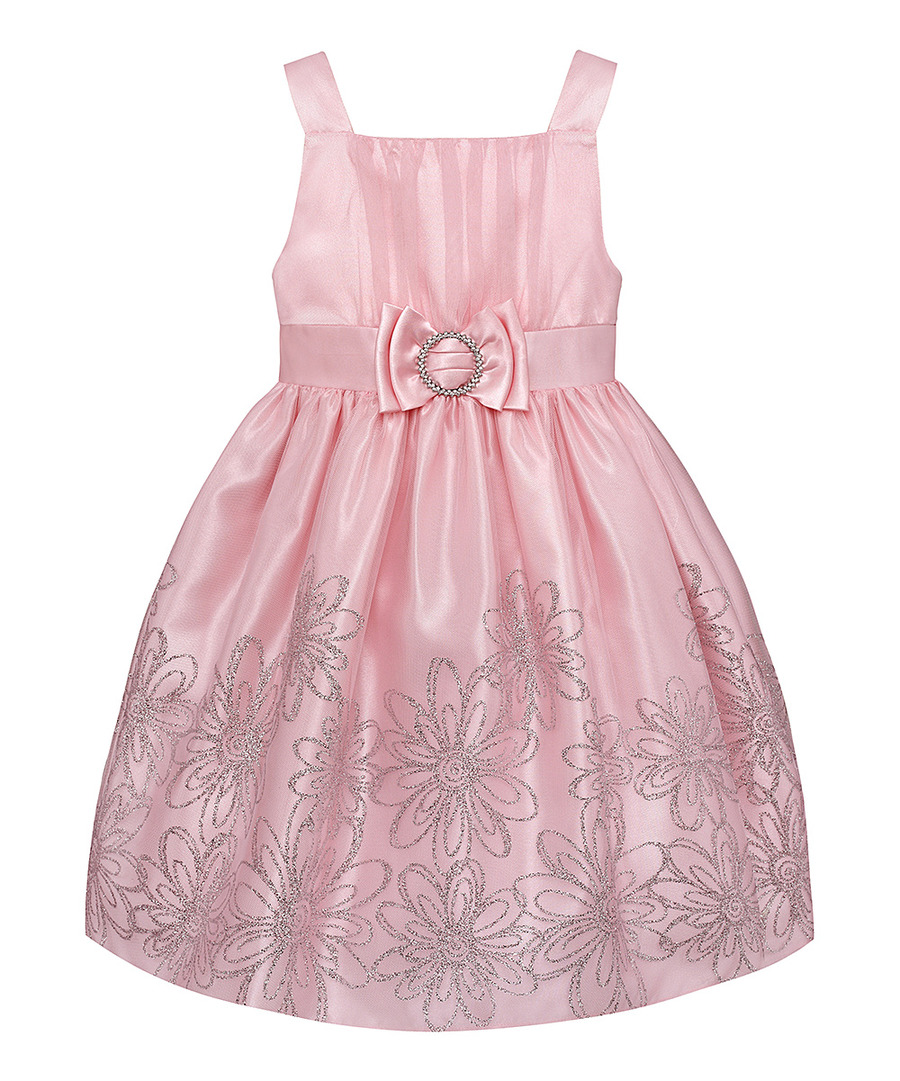 Details about Pink/Silver Special Occasion Princess Dress Girls Plus Size  14.5 by LOVE NEW