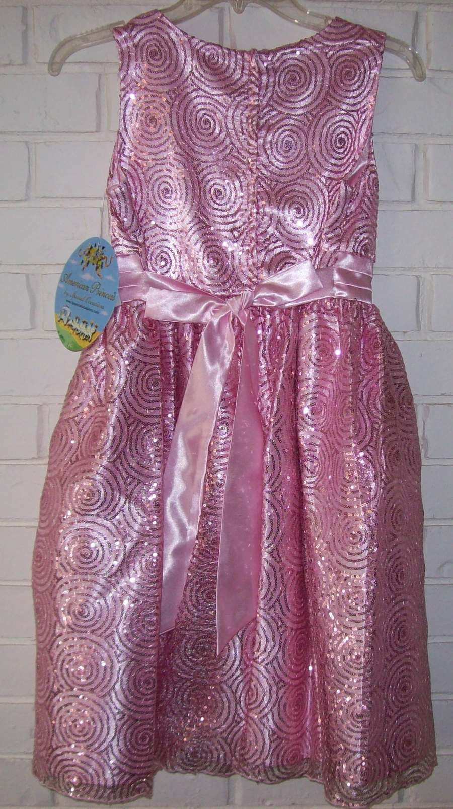American Princess Ice Pink Girl Plus Size 14.5 Sequin Party Dress ...