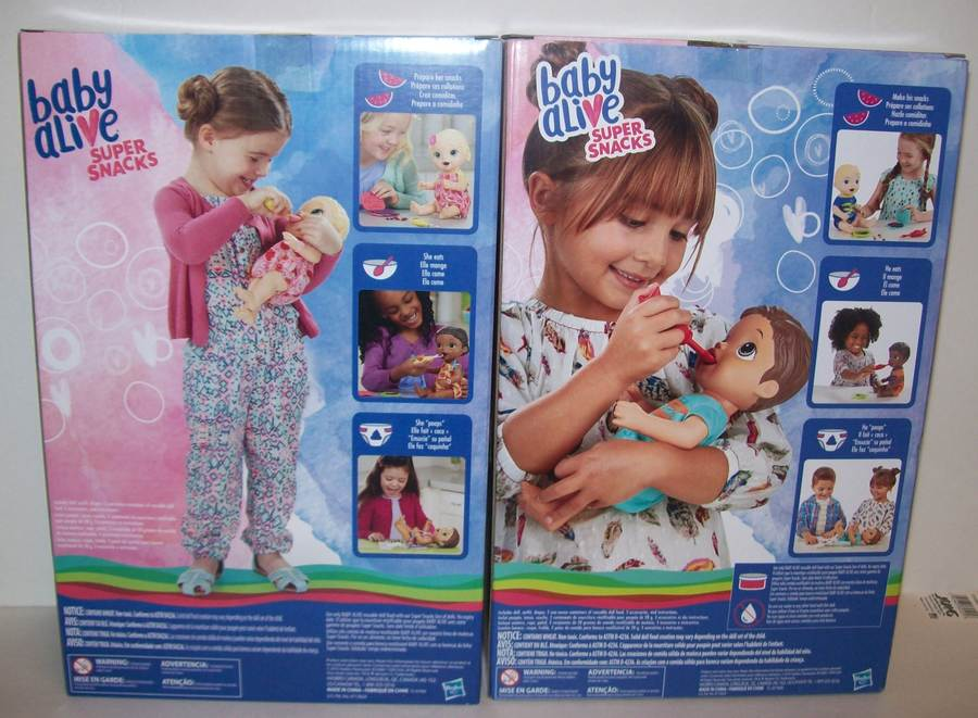 Baby Alive Super Snacks Snackin Lily Girl Doll And Luke