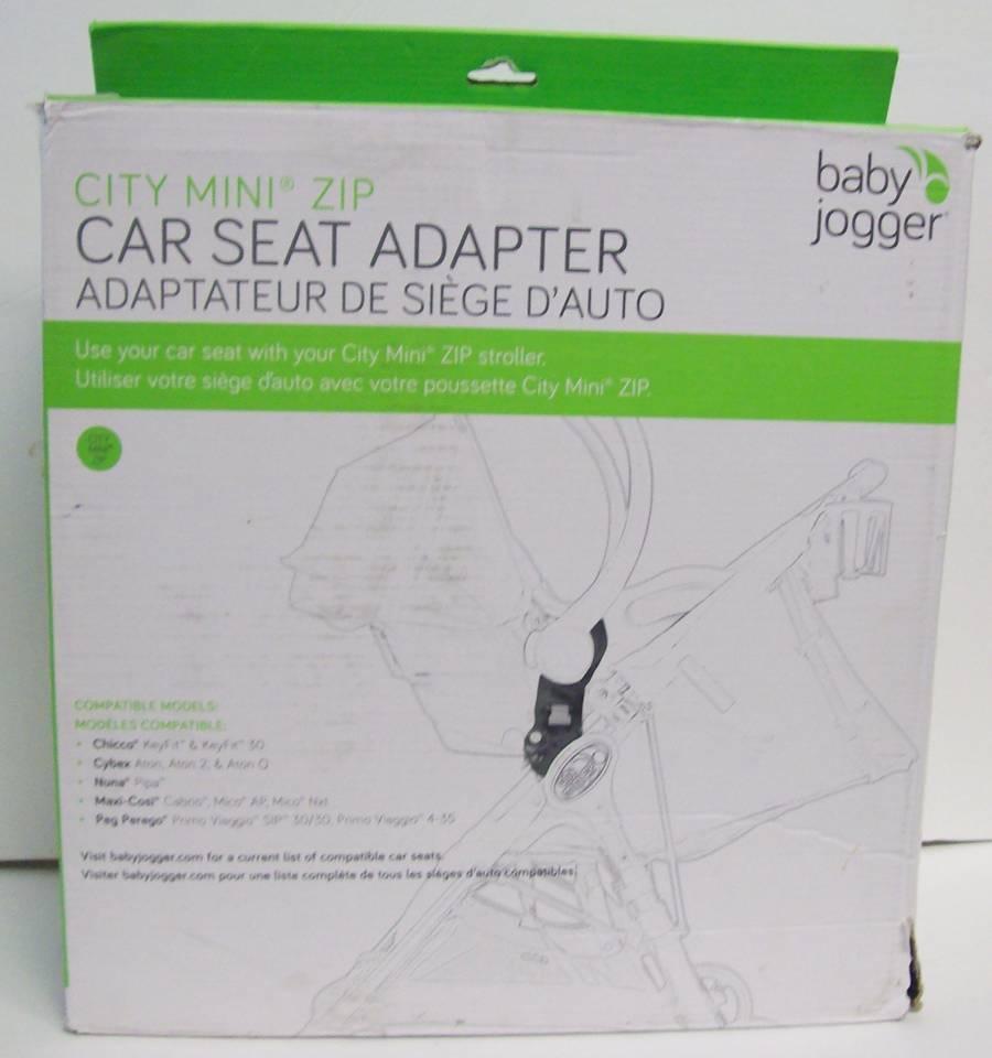 Baby Jogger City Mini Zip Car Seat Adapter Chicco Peg Perego Cybex BJ92323 NEW