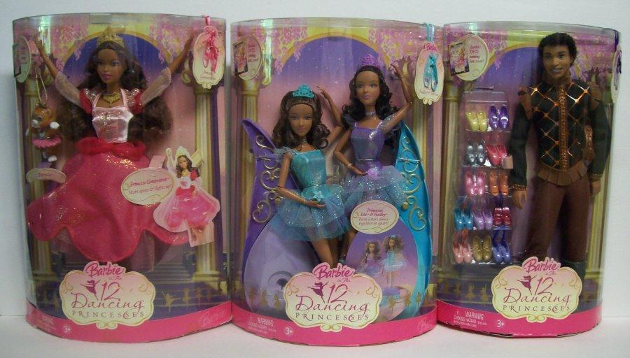 barbie 12 dancing princesses aa genevieve twins ken as