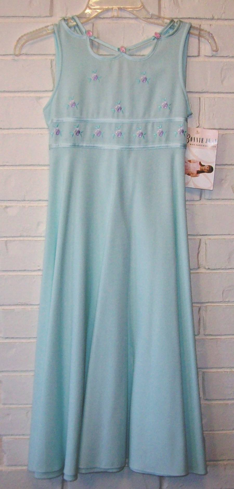 Bonnie Jean Girls Size 10 Light Teal Easter Holiday Party Dress NWTS ...