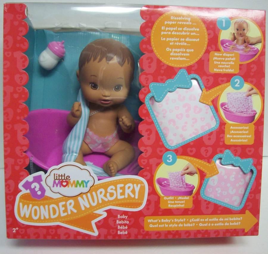 Little Mommy Wonder Nursery Doll Light Brown Haired Hispanic Playset Bathtub NEW