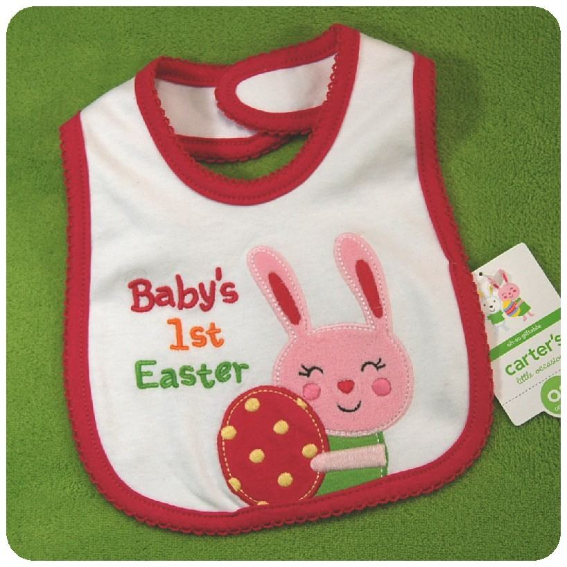"NEW Carter/'s Just One You /""My First EASTER/"" Baby Boy Bib~1st Easter~NWT"