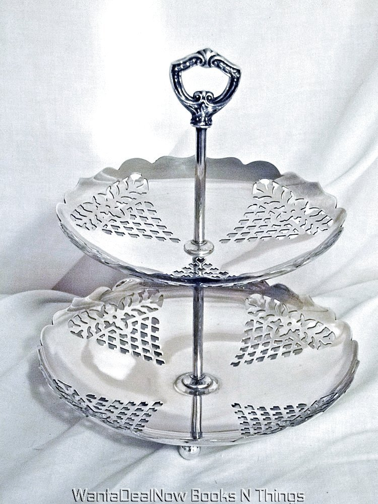 What Does Epc Stand For >> Vintage SHEFFIELD Silver Plate Dessert Two Tier Stand ...