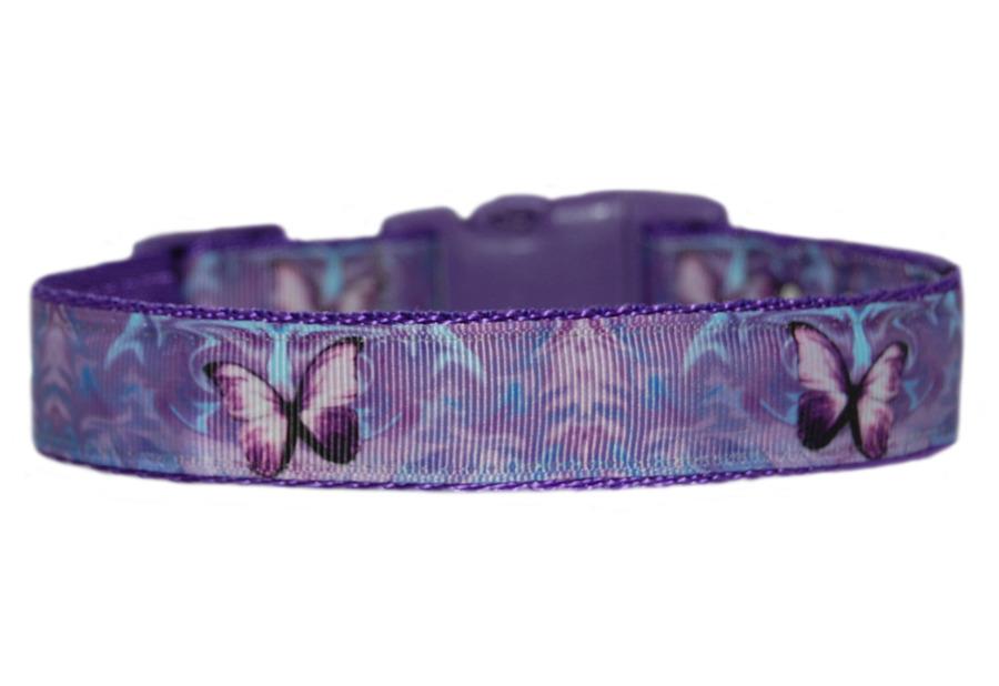 lila schmetterlinge mittel gro hund welpe halsband 1 gepolstert ebay. Black Bedroom Furniture Sets. Home Design Ideas