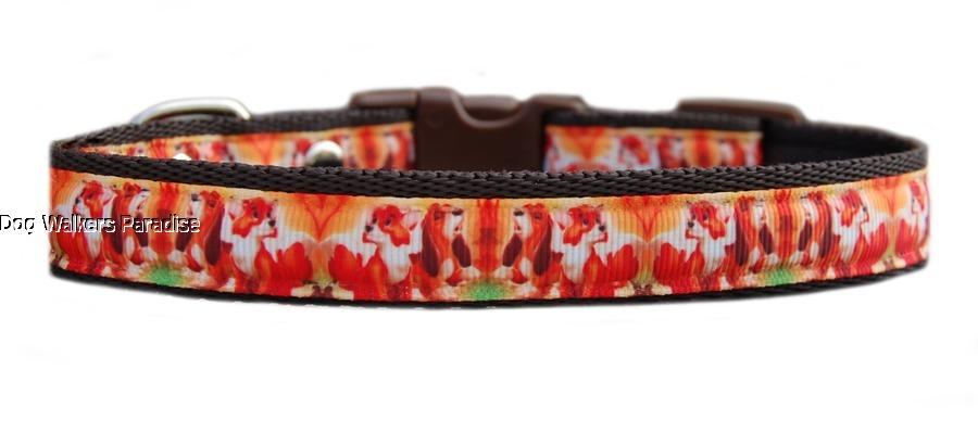 "Brown /""Fox /& Hound /"" medium breed dog puppy collar or /& lead set 19mm"