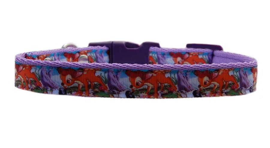 "BLUE    /""BAMBI /& THUMPER /"" medium breed dog puppy collar or collar /& lead  set"