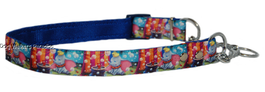 ASSORTED   sparkle half check choke martingale small dog training collar 13MM