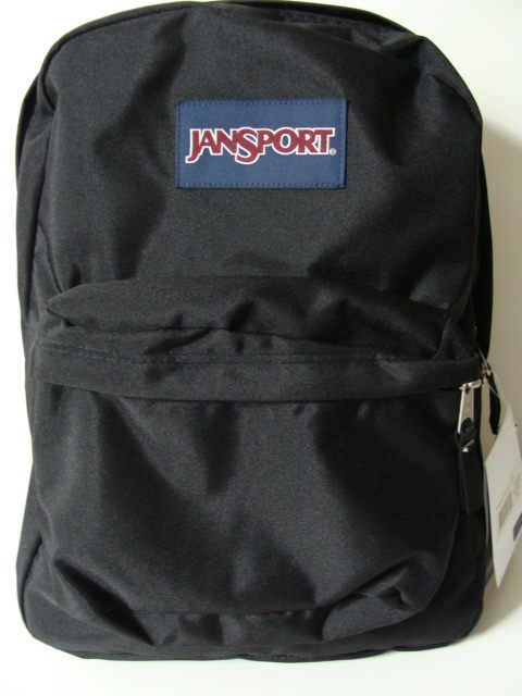 NWT JANSPORT Black SuperBreak Backpack Book Bag School Pack Boy ...