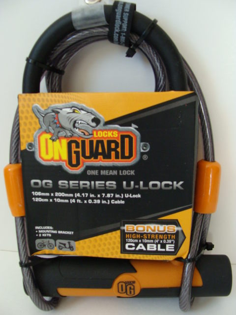 Lock  High Strength Cable   OnGuard OG Series  One Mean Lcok U