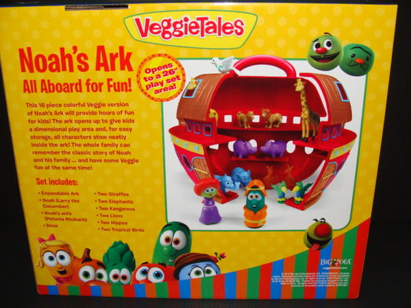 Details about NEW Veggie Tales Noah's Ark Play Set 16 Pieces Animals Larry  Figure Carry Handle