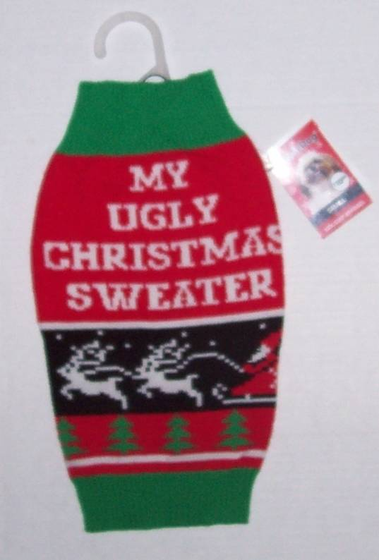 simply dog my ugly christmas sweater sz small - My Ugly Christmas Sweater