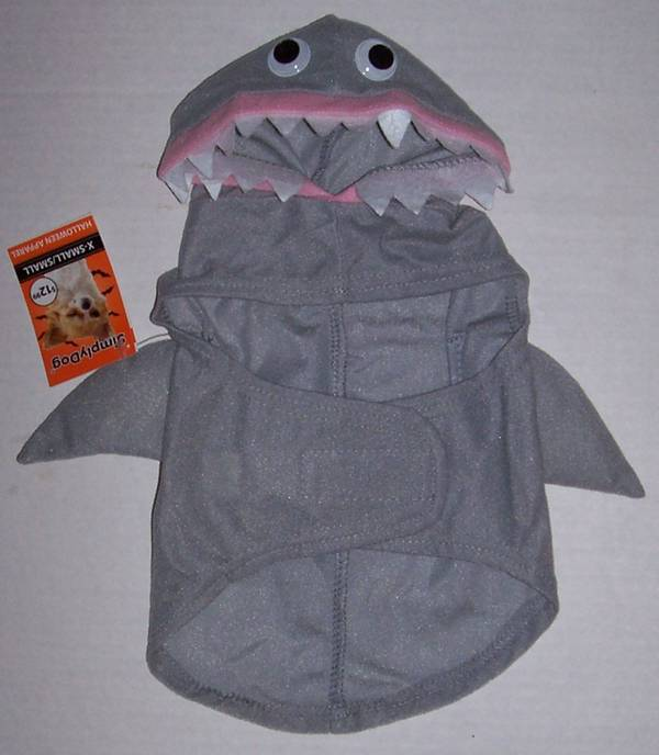 Details about Simply Dog Pet Shark Costume XS S M L Dogs Cat Petco  Halloween NWT