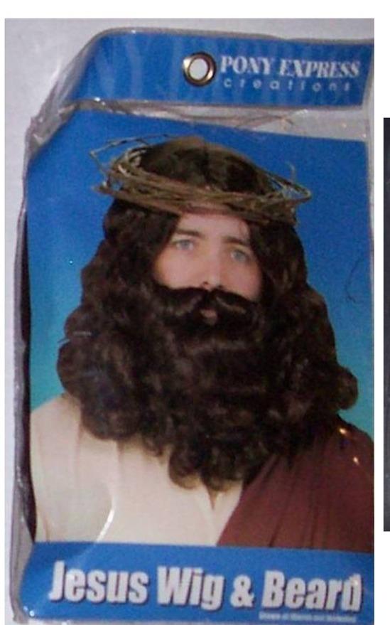 Halloween Costume Wigs Beards Men Boys Pirate Vampire Rockstar Frank N Furter