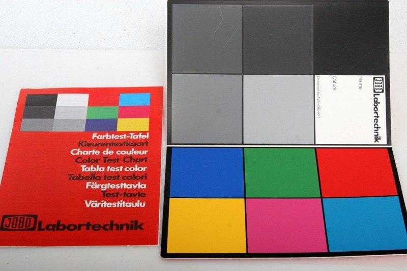 Jobo 6817a Color Test Chart Ebay