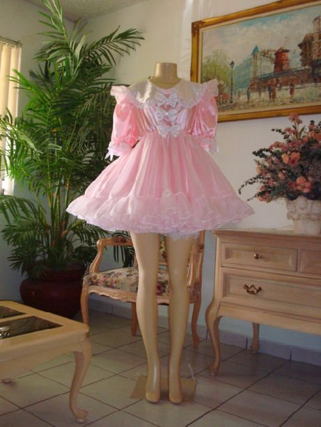 Neljen Vintage Lacey Adult Baby Doll Party Dress Lots Of