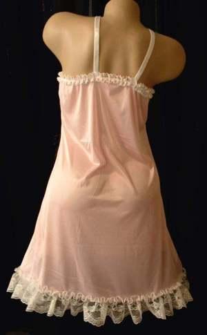 Neljen Adult SiSsy Fancy Vintage Slip Dress Lavender Tricot from M-2XL