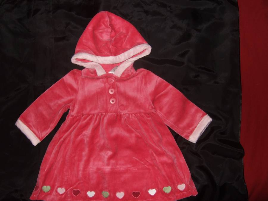 5b14231fdbdb NWT GYMBOREE ~ GINGERBREAD GIRL pink velour hooded dress ~ girls 12 ...