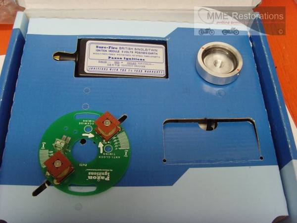 Bsa C15 B40 B25 B44 B50 Triumph T20  M Cub Electronic Ignition Kit 6 Volt
