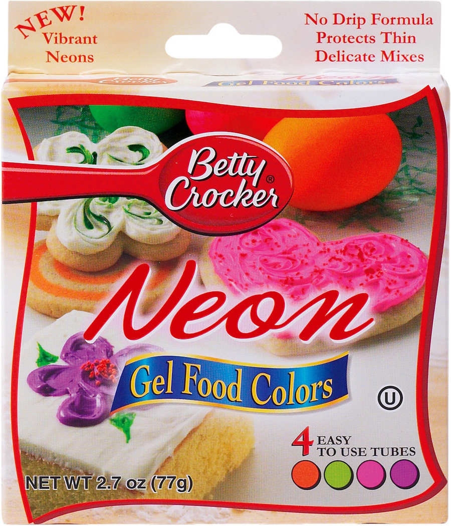 Betty Crocker NEON Food Color Gels-4 Colors to the Box! 71169760104 ...