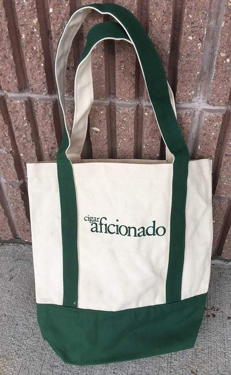 Cigar Aficionado Canvas Tote Bag-Overstock-Brand New-Heavy Duty!  c3a0e3832e168